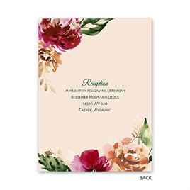 Floral Brushstrokes - Petite Invitation