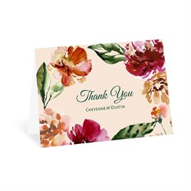 Autumn/Fall: Floral Brushstrokes Thank You Card