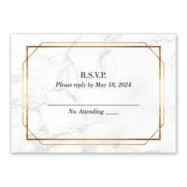 Wedding Response Cards: Gilded Marble Response Card