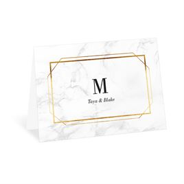 Thank You Cards: Gilded Marble Thank You Card