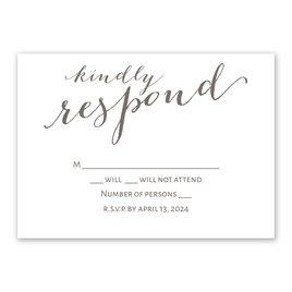 Wedding Response Cards: Simply Sweet Response Card