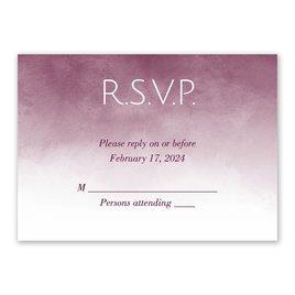Wedding Response Cards: Watercolor Wash Response Card