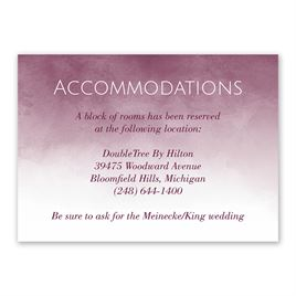 Wedding Reception and Information Cards: Watercolor Wash Information Card