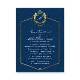 Majestic Monogram Petite Invitation