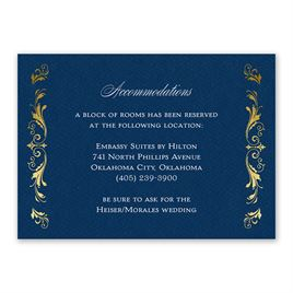 Wedding Reception and Information Cards: Majestic Monogram Information Card