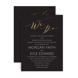 Classic Wedding Invitations: Vows Petite Invitation