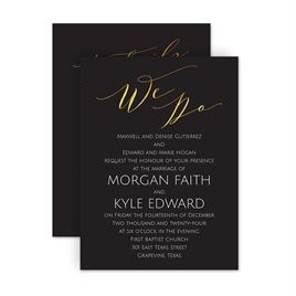 Wedding Invitations: Vows Petite Invitation