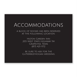 Wedding Reception and Information Cards: Vows Information Card