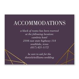 Wedding Reception and Information Cards: Golden Geo Information Card