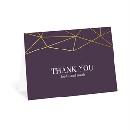 Golden Geo - Thank You Card
