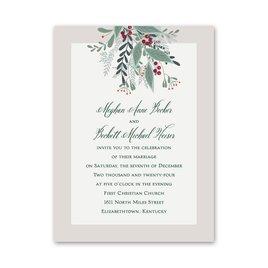 Sweet Mistletoe Petite Invitation