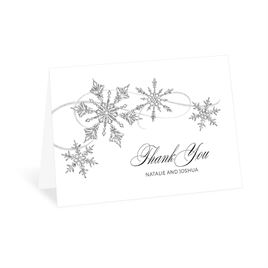 Thank You Cards: Silver Snowflakes Thank You Card