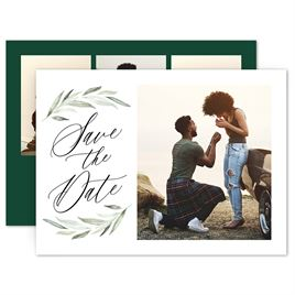 Save The Dates: Framed in Greenery Save the Date Card