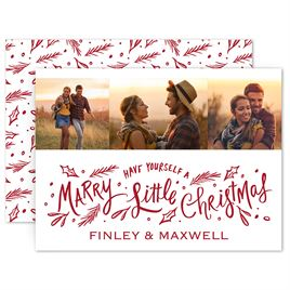 Save The Dates: Marry Little Christmas Holiday Card Save the Date