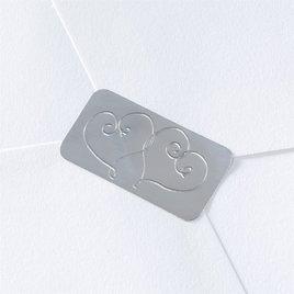 Wedding Favors: Blank Silver Hearts Seal