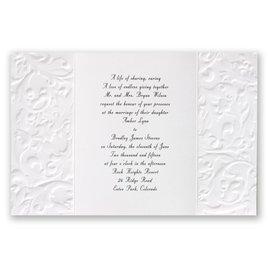 Vintage - White - Invitation