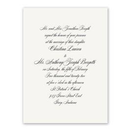 Calligraphy Wedding Invitations: Simplicity Invitation