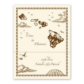 Hawaii Treasure Map Ecru Z-Fold - Inv