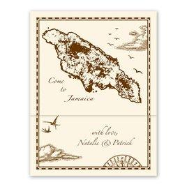 Jamaica Treasure Map Ecru - Z-Fold - Inv