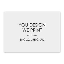 Wedding Reception and Information Cards: You Design, We Print Enclosure Card
