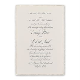 Classic Wedding Invitations: Pearl Trim Invitation