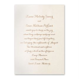 Simply Stunning - Ecru Shimmer - Foil Invitation