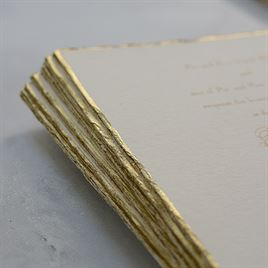 Gold Trim - Invitation