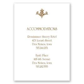 Fine Filigree - Accommodations Card