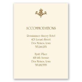Fine Filigree - Ecru - Accommodations Card
