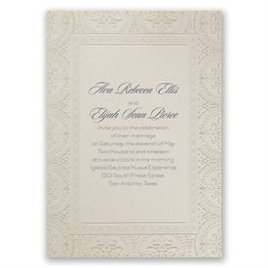 Wedding Invitations: Ornate Beauty Invitation