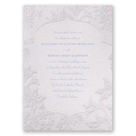 Traditional Wedding Invitations: Shimmering Lace Invitation
