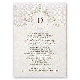 Monogram Wedding Invitations: Sophisticated Monogram Invitation