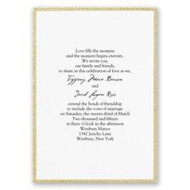Glam Wedding Invites: Framed in Glitter - Invitation