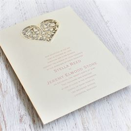 Touched by Love - Laser Cut Invitation