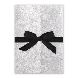 Pearl Vines - Black - Invitation