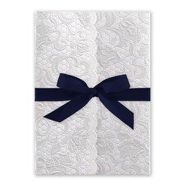 Pearl Vines - Navy - Invitation