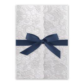 Pearl Vines - Steel Blue - Invitation