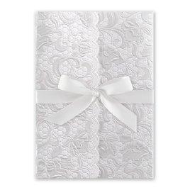 Pearl Vines - White - Invitation