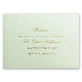 Pistachio Shimmer - Foil Reception Card