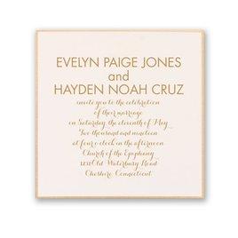 Wedding Invitations: Golden Touch Invitation