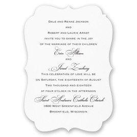 Wedding Invitations: Vintage Crest Invitation