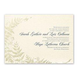 Ferns of Gold - Invitation