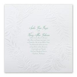 Glistening Wreath - Invitation
