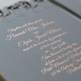Rolling Vines - Foil and Laser Cut Invitation