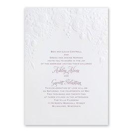Floral Wedding Invitations: Rose Arch Invitation