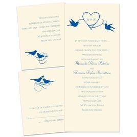 Pretty Birds - Ecru - 3 for 1 Invitation