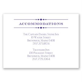 Vintage Type - Accommodations Card