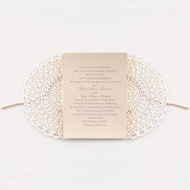 Beaming Beauty - Gold Shimmer - Laser Cut Invitation