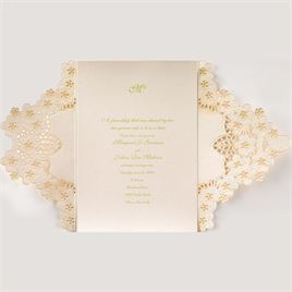 Abundant Beauty - Laser Cut Invitation
