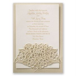 Freshly Cut Flowers Laser Cut Invitation